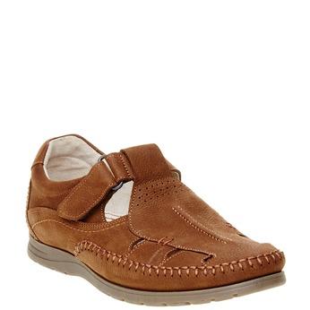 Pánske kožené sandále comfit, hnedá, 866-4184 - 13