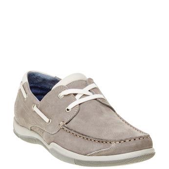 Ležérne kožené mokasíny bata, šedá, 856-2176 - 13