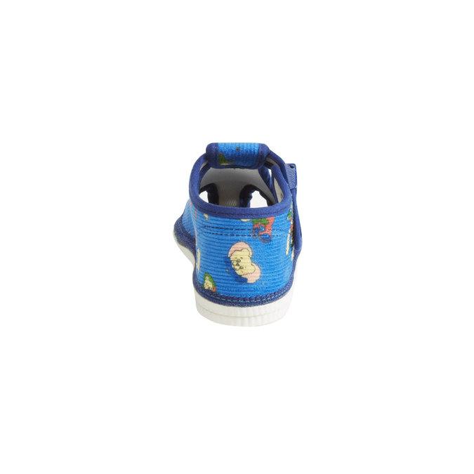 Detská domáca obuv k členkom bata, modrá, 179-9210 - 17