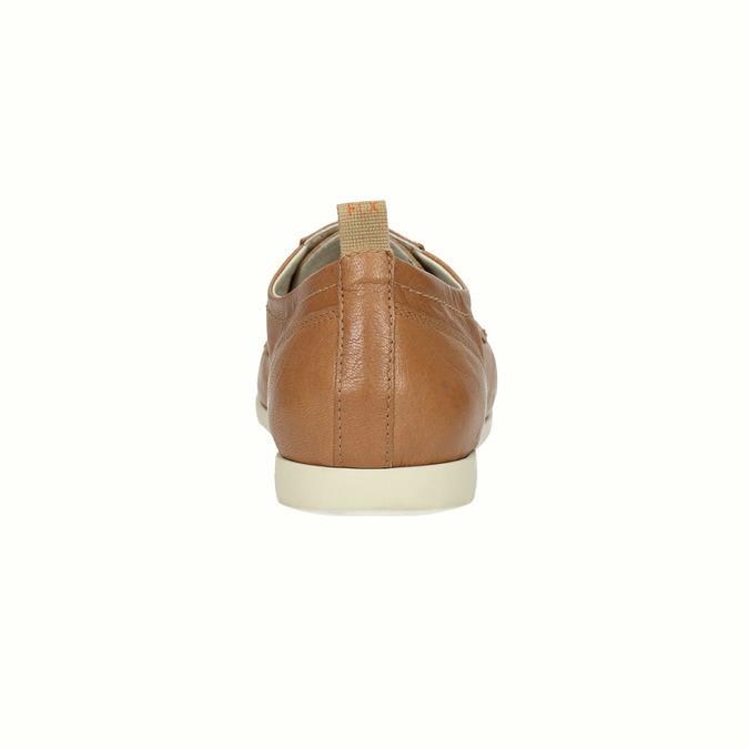 Ležérne kožené poltopánky flexible, hnedá, 524-3565 - 17
