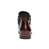 Kožená členková obuv so zipsami bata, červená, 596-5605 - 17