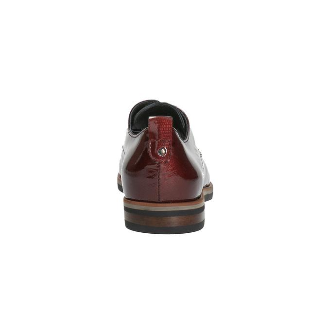 Dámske Derby poltopánky bata, červená, 528-5600 - 17