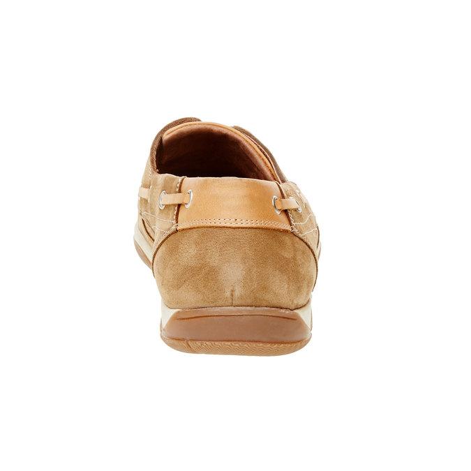 Ležérne kožené mokasíny bata, hnedá, 856-3176 - 17