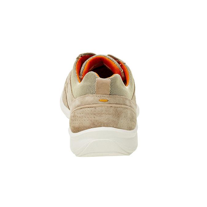 Ležérne kožené tenisky comfit, béžová, 843-8643 - 17