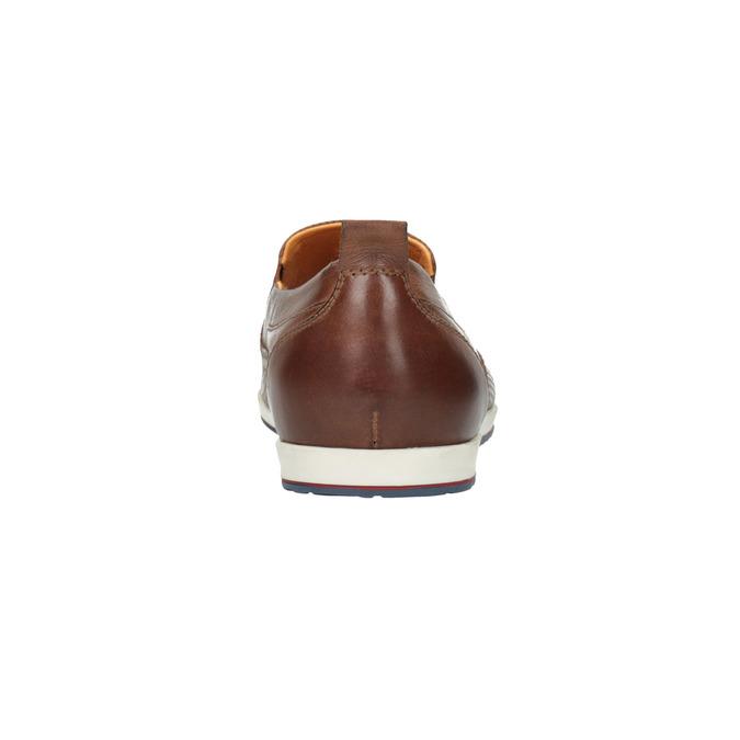 Pánske kožené Slip-on topánky bata, hnedá, 814-4148 - 17