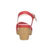 Kožené sandále na nízkom podpätku bata-touch-me, červená, 666-5203 - 17