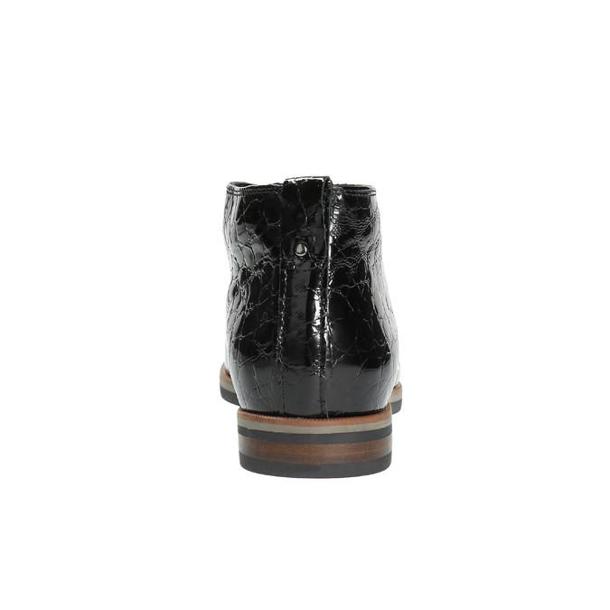 Dámské kožené poltopánky k členkom bata, čierna, 598-6601 - 17