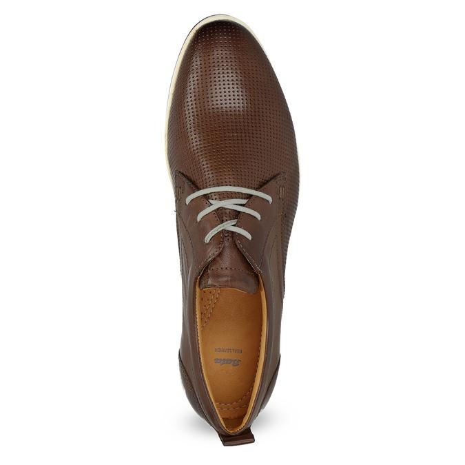 Ležérne kožené tenisky bata, hnedá, 824-4124 - 17