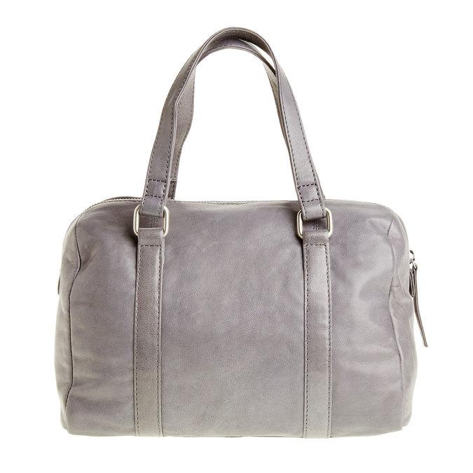 Kožená kabelka so strapcom bata, šedá, 964-2190 - 26
