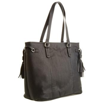 Dámska kabelka so strapcami bata, čierna, 961-6762 - 13