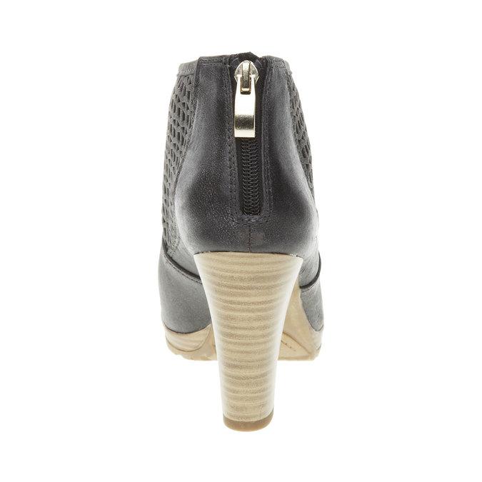 Členkové čižmy na podpätku bata, čierna, 691-6106 - 17