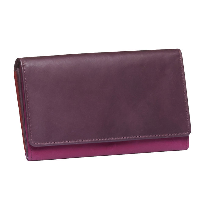 Dámska kožená peňaženka bata, fialová, 944-5156 - 13