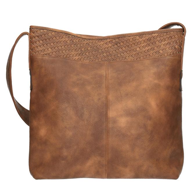 Priestorná kabelka s dlhým uchom bata, hnedá, 961-3600 - 19