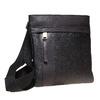 Kožená cross body bata, čierna, 964-6131 - 13