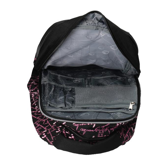 Školský batoh s potlačou bagmaster, čierna, 969-6602 - 15
