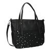 Dámska kabelka s kamienkami bata, čierna, 961-6247 - 13