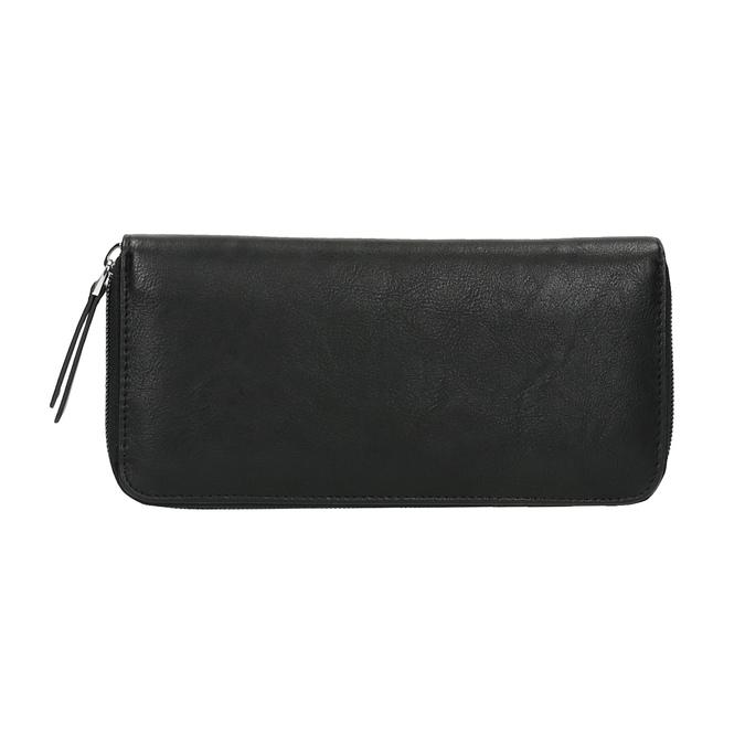 Dámska peňaženka s kovovou aplikáciou bata, čierna, 941-6134 - 26