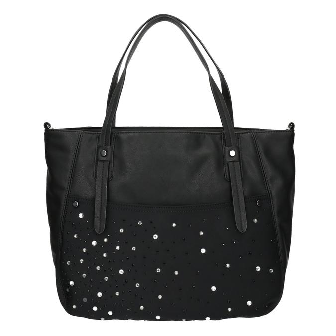 Dámska kabelka s kamienkami bata, čierna, 961-6247 - 19