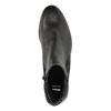 Kožená členková obuv so zipsami bata, čierna, 596-6605 - 19