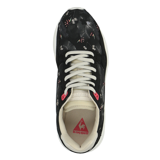 Dámske tenisky s kvetinovým vzorom le-coq-sportif, čierna, 509-6610 - 19