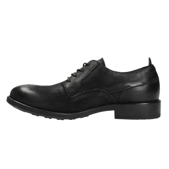 Kožené poltopánky v ležérnom dizajne bata, čierna, 826-6732 - 26