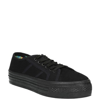 Čierne tenisky so širokou podrážkou bata, čierna, 529-6630 - 13
