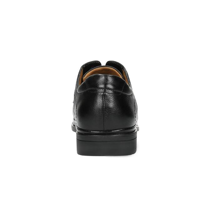 Pánske kožené poltopánky comfit, čierna, 824-6717 - 17
