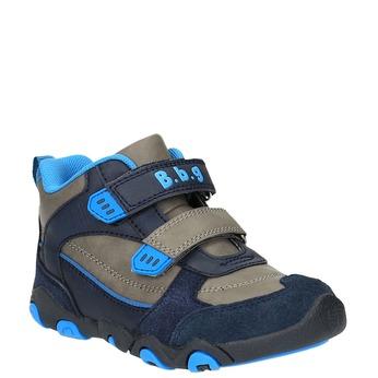 Chlapčenská členková obuv na suchý zips bubblegummers, modrá, 291-2600 - 13
