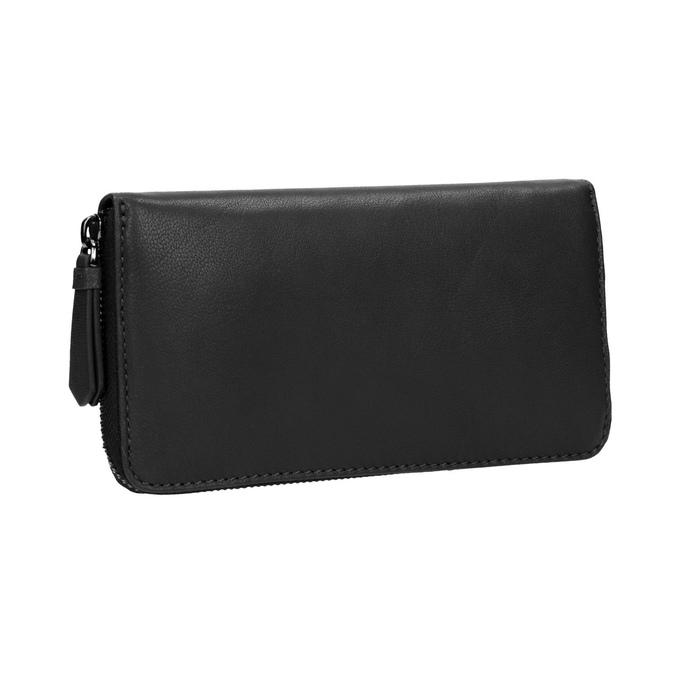 Dámská kožená peňaženka čierna bata, čierna, 944-6165 - 13
