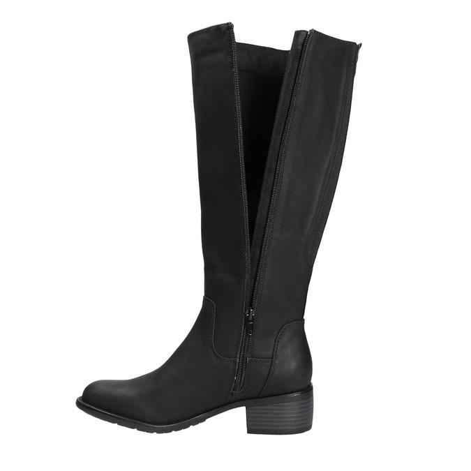 Dámske čižmy na nízkom podpätku bata, čierna, 691-6600 - 26