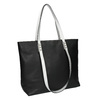 Dámska kabelka s dvojitými rúčkami bata, čierna, 961-6625 - 13