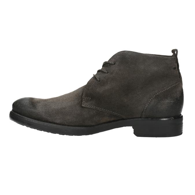 Členková obuv z brúsenej kože bata, šedá, 846-6611 - 26
