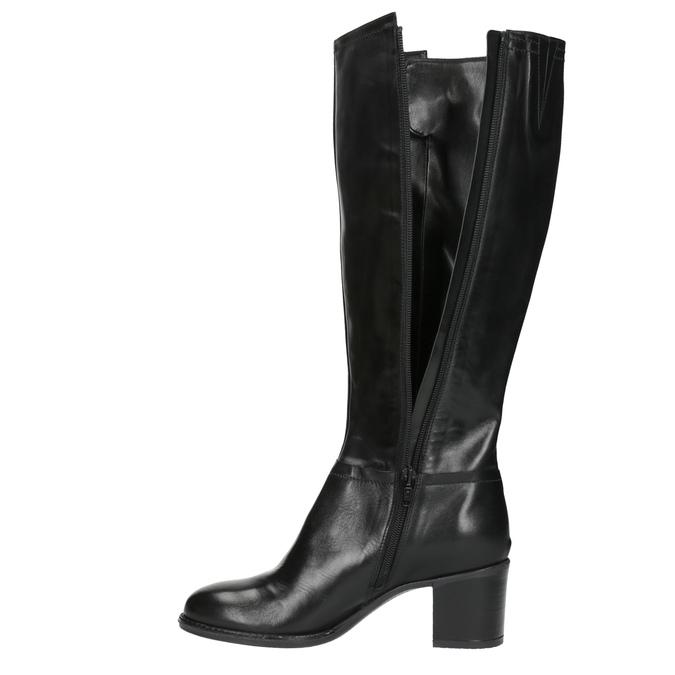 Dámske čižmy na stabilnom podpätku bata, čierna, 694-6361 - 19