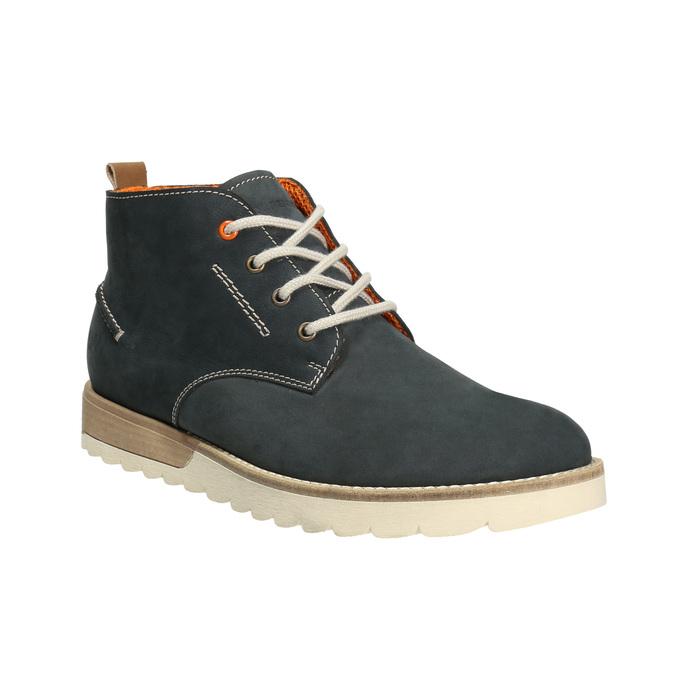 Pánske kožené Chukka Boots weinbrenner, modrá, 846-9629 - 13