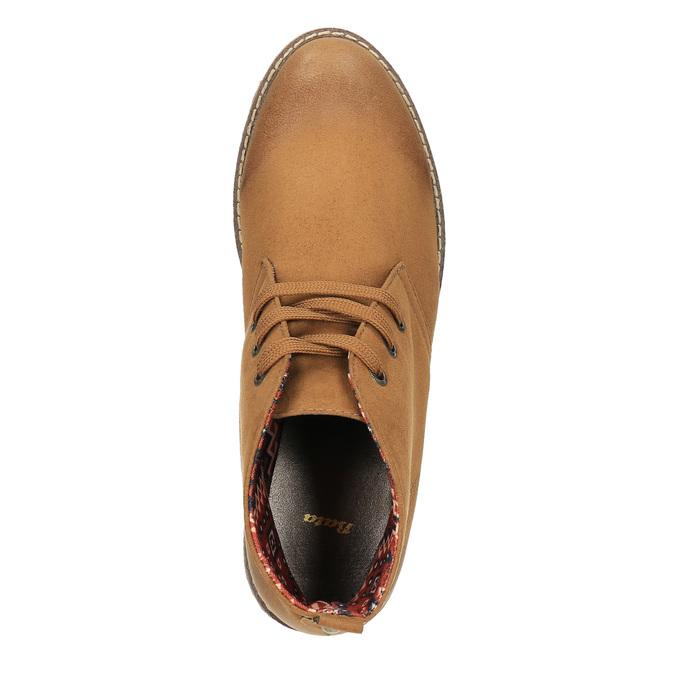 Dámska členková obuv s farebnou podšívkou bata, hnedá, 599-4605 - 19