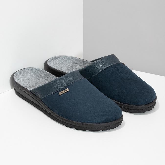 Pánska domáca obuv bata, modrá, 879-9600 - 26