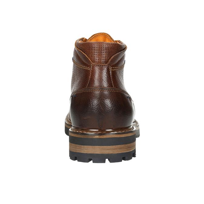 Pánska zimná kožená obuv bata, hnedá, 894-3672 - 17