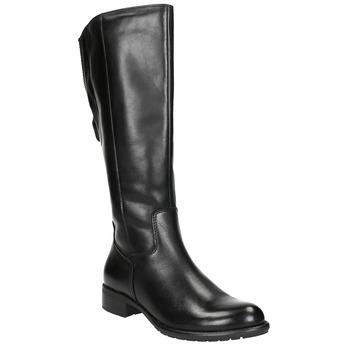 Dámske kožené čižmy čierne bata, čierna, 596-6604 - 13