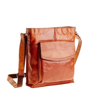 Pánska kožená  Crossbody taška bata, hnedá, 964-3141 - 13