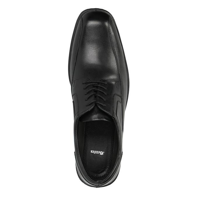 Pánske kožené poltopánky bata, čierna, 824-6744 - 19