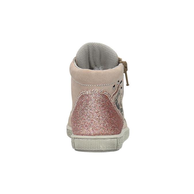 Detské kožené tenisky nad členky mini-b, ružová, 323-5171 - 17