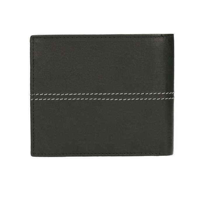 Pánska peňaženka s prešívaním bata, čierna, 944-6176 - 19