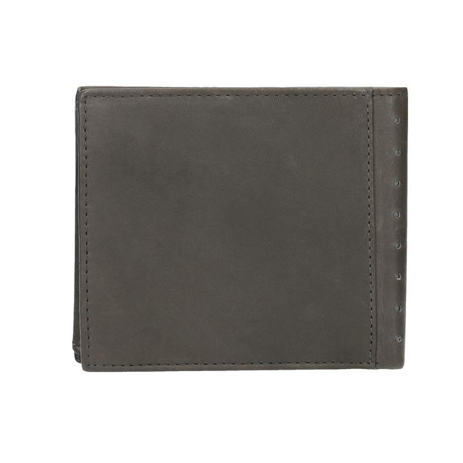 Kožená peňaženka s perforáciou bata, čierna, 944-6175 - 19