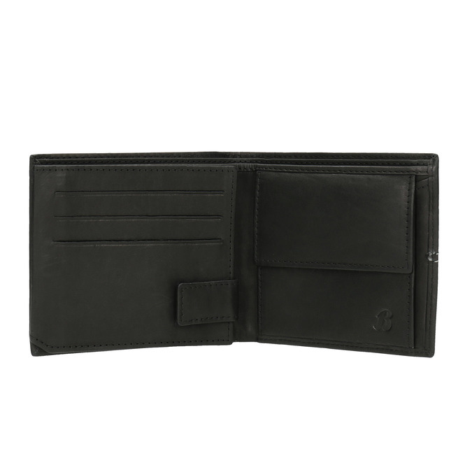 Pánska peňaženka s prešívaním bata, čierna, 944-6176 - 15