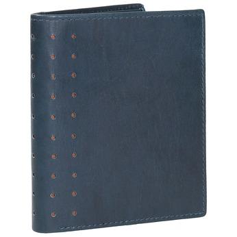Kožená peňaženka s perforáciou bata, modrá, 944-9175 - 13