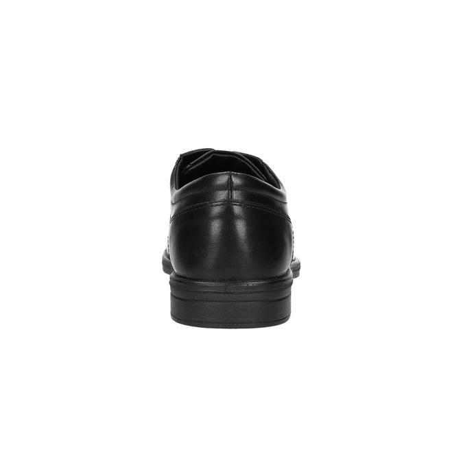 Čierne kožené poltopánky bata, čierna, 824-6743 - 17
