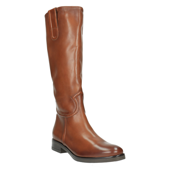 Kožené dámske čižmy bata, hnedá, 596-4608 - 13