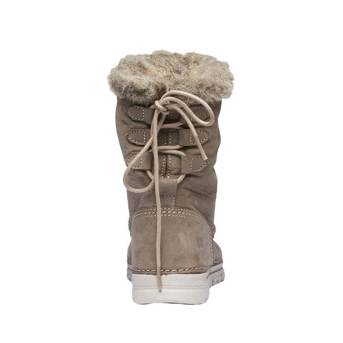 Dámske zimné topánky s kožúškom weinbrenner, béžová, 596-2334 - 17