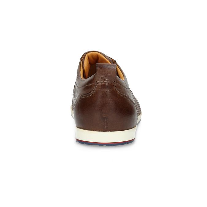 Ležérne kožené tenisky bata, hnedá, 824-4124 - 15
