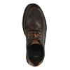 Kožené ležérne poltopánky na výraznej podrážke bata, hnedá, 824-4696 - 19